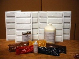 36 MOLDS & SUPPLIES KIT TO CRAFT 1000s OF BRICK VENEER TILE FOR ABOUT $0... - $227.95