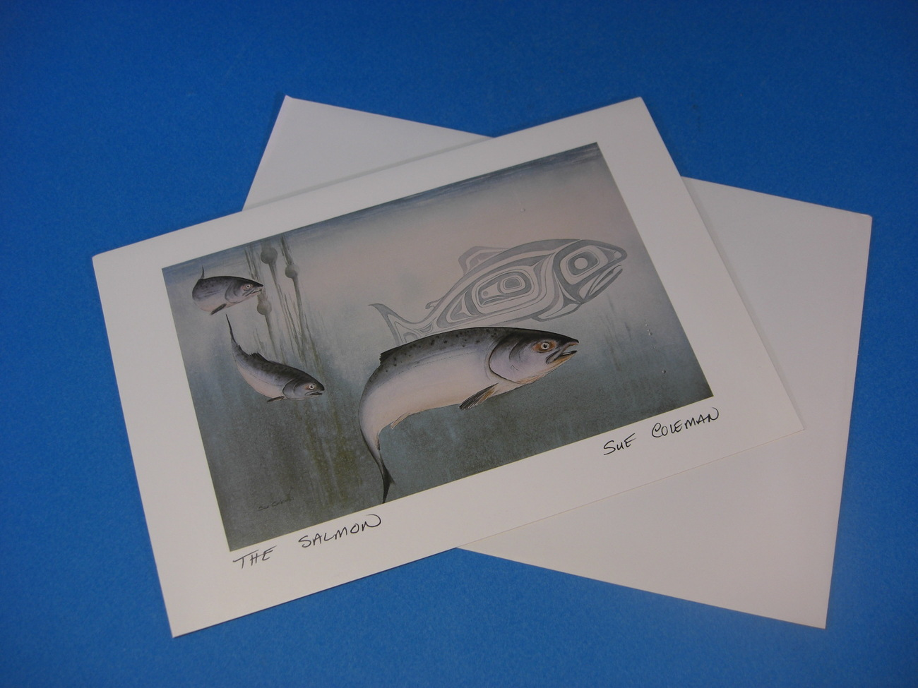 THE SALMON Art Card by Susan Coleman