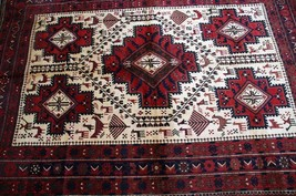208 x 150 Cm, Antique Persian Qashqai Rug Persian Shirazi Old Rug Turkis... - $911.90