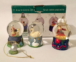 12 Days of Christmas Waterglobe Ornaments-International Bazaar -7, 8, 9 - $24.74
