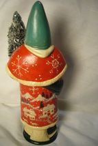Vaillancourt Folk Art, Red Santa w/  Village Scene personally signed by Judi! image 3