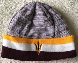 Arizona State Sun Devils Cuffed Beanie Hat One Size New Without Tags - $11.87