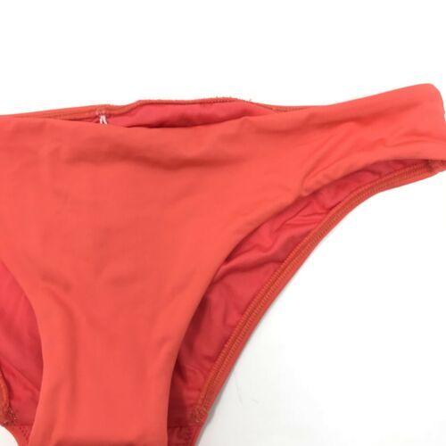 Seafolly Womens Size 10 Swim Bikini Bottom Ruched Back Detail Red Orange NEW
