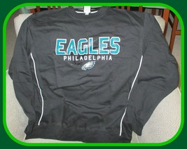 Philadelphia Eagles NFL Team Apparel Men's Black Sweatshirt Large - $54.40