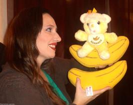 VINTAGE RARE Bearys n Cream BANANA PLUSH Bear FRUIT Commonwealth Bib Stu... - $60.31
