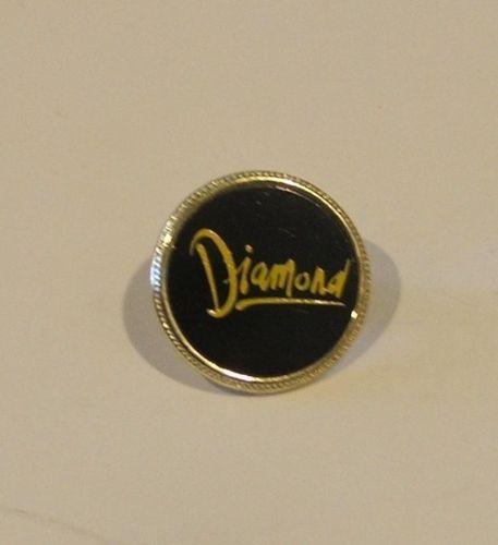 Diamond Black on Gold Pin