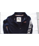 Hollister woman's/junior's navy cardigan sweatshirt size small - $13.25