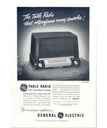 1951 GE Model 422 Dial Beam Tuning Table Radio print ad - $10.00