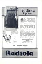 1925 RCA Super-Heterodyne Radiola Super-III Radio ad - $10.00