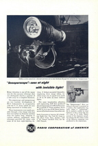 1945 RCA Sniperscope & Snooperscope telescope ad - $10.00