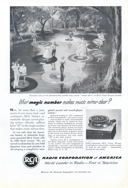 1951 RAC Victor 45-rpm Record Player print ad