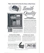 1951 Zenith Tudor Radio Phonograph console print ad - $10.00