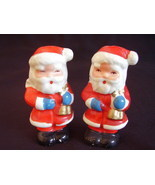 Vintage Mini Santa Salt Pepper Shakers - £9.13 GBP