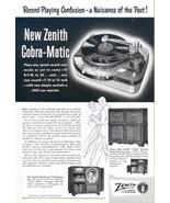 1950 Zenith Cobra Matic Tudor Radio Phonograph print ad - $10.00