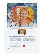 1959 RCA Victor Vista Color TV Television print ad - $10.00
