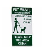 DOGIPOT Reflective Aluminum On Leash Dog Park Pet Waste Sign - Green - $46.69