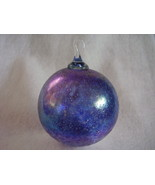 Hand Blown Iridized Christmas Glass Ornament Glass Loop - $22.00