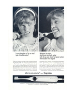 1963 Squibb Broxodent Automatic Action Toothbrush ad - $10.00