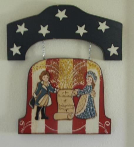 Pariotic Stars & Stripes Declaration Wooden Wall Plaque