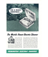 1941 Remington Foursome Electric Shavers Man's Xmas ad - $10.00