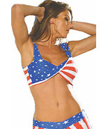 Star Spangled Twisted Top in Red, White & Blue Stars and Stripes  - $19.99