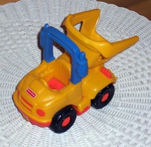 """Little People Fisher-Price Construction 7"""" Dump Truck with Flip Yellow Body - $4.49"""