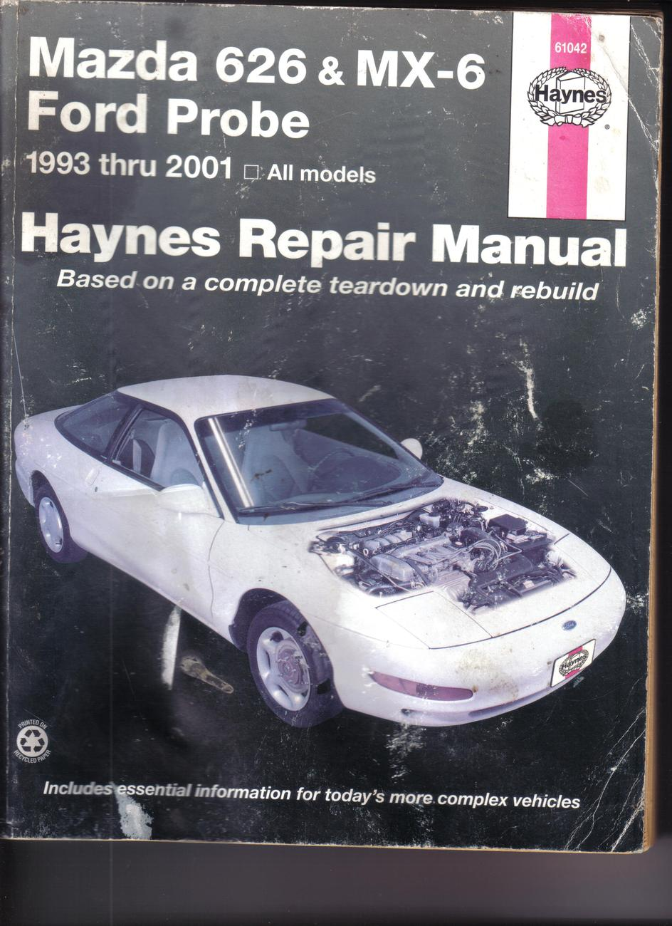 Haynes mazda 626 mx 6 ford probe  93  10 001