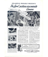 1949 Polaroid picture-in-a-minute Land Camera print ad - $10.00