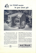 1947 Bell & Howell Filmo Sportster Auto Load Camera ad - $10.00