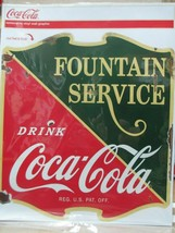 Coca-Cola Removable Vinyl Decal 1930s Fountain Service Drugstore Distressed - $11.87