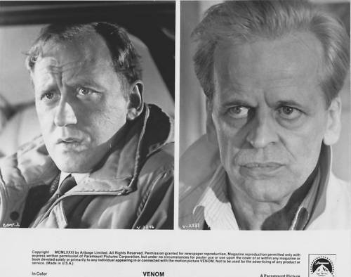 Venom Klaus Kinski Nichol Williamson 8x10 Photo