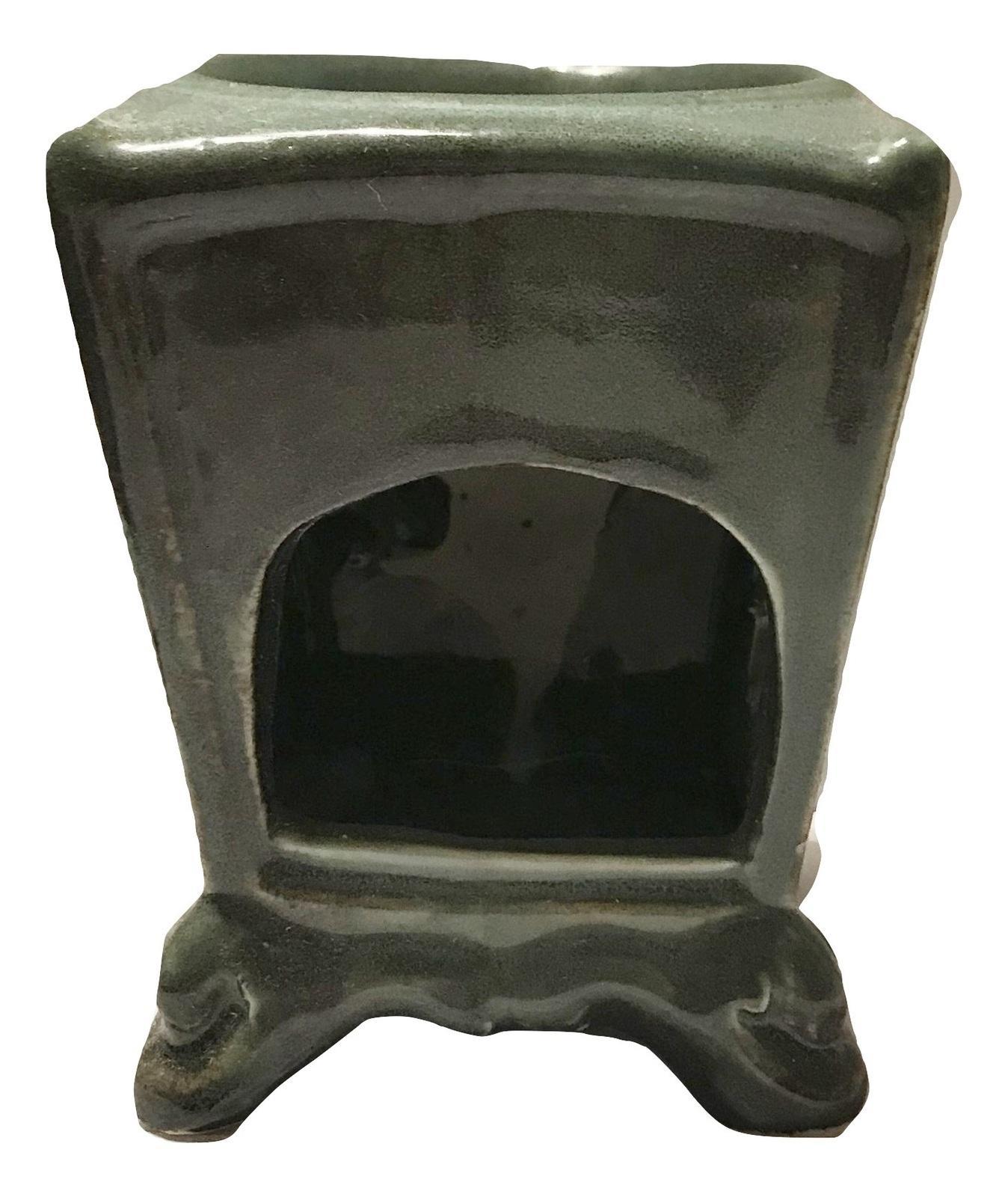 Green Ceramic Lion Oil Burner