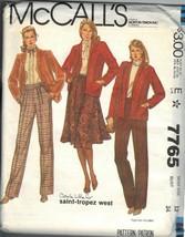 McCALL'S PATTERN 7765 DATED 1981 SIZE 12 MISSES' JACKET SKIRT PANTS UNCUT - $3.90