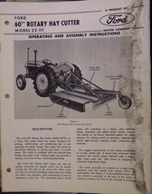 """Ford Model 22-111 60"""" Rotary Mower Operator's Manual - 1962 - $10.00"""
