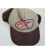 Vans Off The Wall Snapback Brown Skateboarding Sports - $8.90
