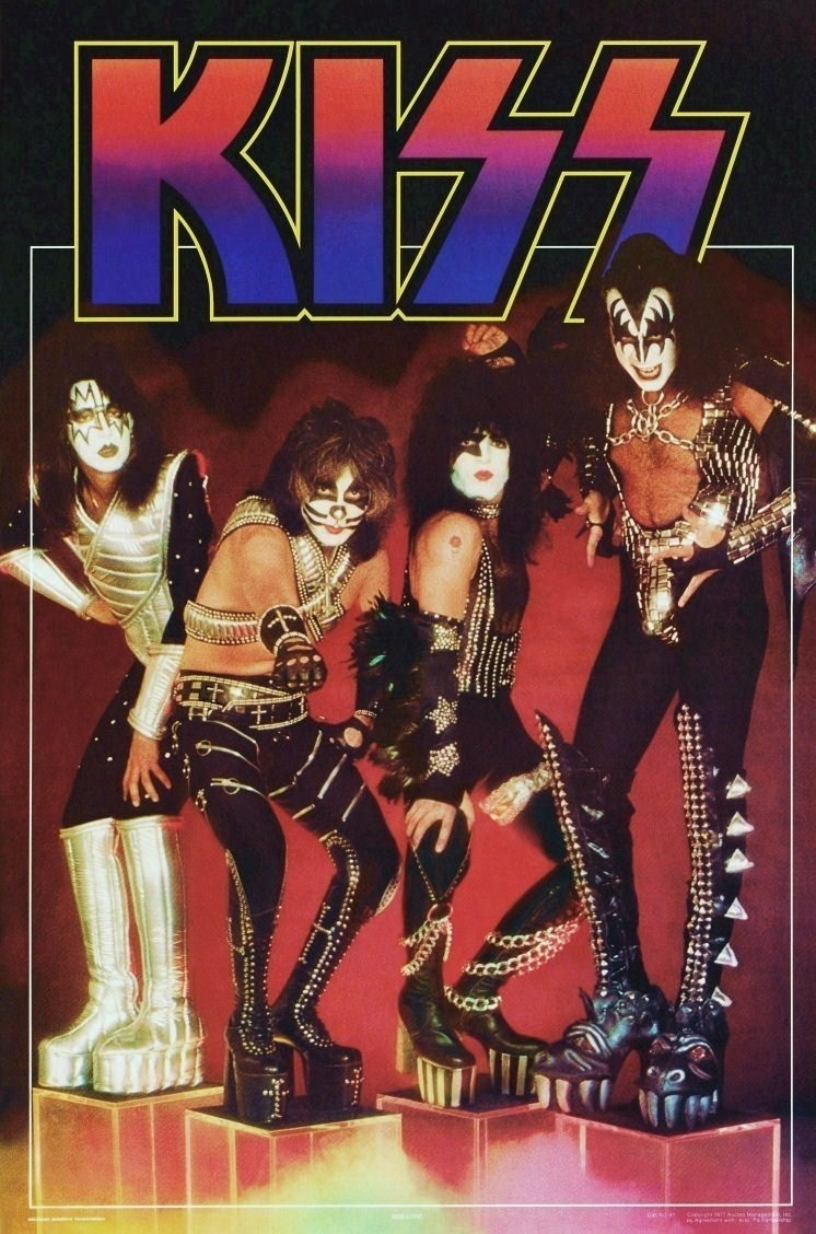 61 x 91 cm NMR Laminiertes Poster Kiss Destroyer Rockmusik-Bands