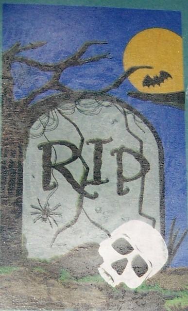 RIP Decorative Halloween Flag Bats Moon Skull Gravestone Spooky Tree NEW