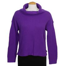 EILEEN FISHER Violet Purple Supersoft Yak Merino Rib Box Sweater S - $159.99