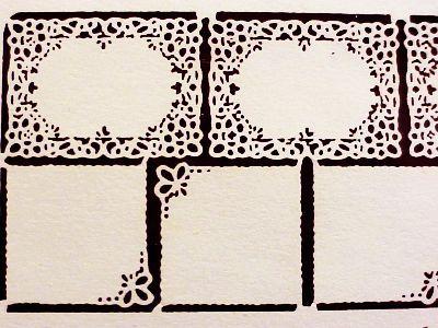 DOLLHOUSE 1:24 Paper Lace Place Mats Napkins Jeannetta Kendall half scale