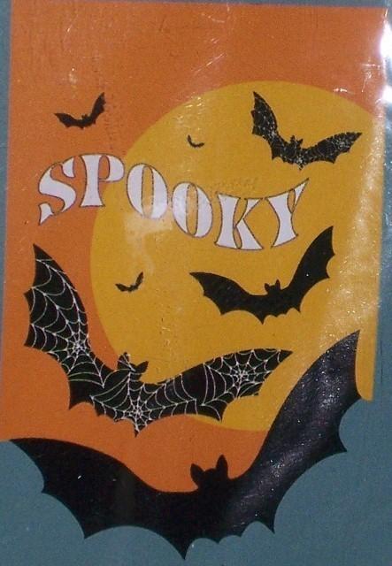 Spooky bats flag  443x640