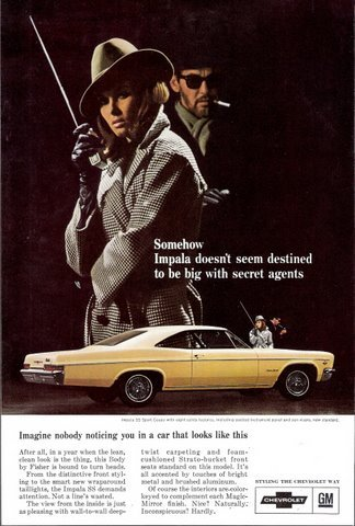 1966 Chevrolet Yellow Impala SS Sport Coupe print ad