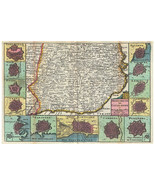 Catalonia, Spain (Barcelona) Antique Historic Map by La Feuille; 1747 - $26.72+
