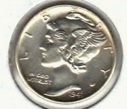 Ch. B.U. 1941 Mercury Dime  S/B - $9.99