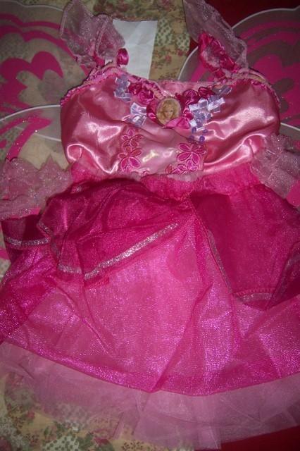 Barbie Mermaidia Butterfly Dress Costume SZ 2-4 Wings Pink Glitter NEW BARBIE