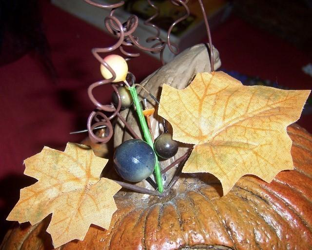 Halloween Flying Witch on Pumpkin Decoration Centerpiece Trees Moon Bats NEW