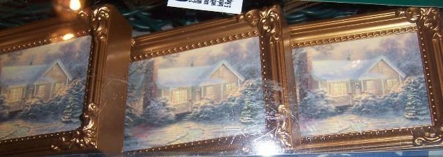 Thomas Kinkade Christmas String Light Set Christmas Cottage Indoor/outdoor NEW