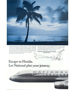 1962 National Airlines route Florida beach couple ad - $10.00