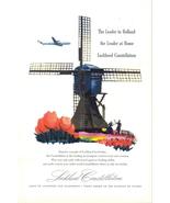 1947 Lockheed Constellation Holland windmill tulips ad - $10.00