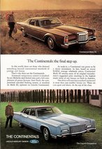 1967 Lincoln Continential and Lincoln Mark III print ad - $10.00