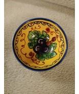 Leoncini San Gimignano Italy Ceramic Hand Painted Small Rice Bowl Pottery - $29.65